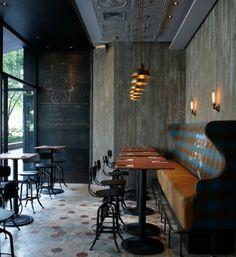 coole Grunge Interior Designs cafe einrichtung sofas tische barstühle lehnen