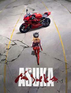 Evangelion and Akira crossover Neon Genesis Evangelion, Film Anime, Manga Anime, Cyberpunk, Akira Poster, Character Art, Character Design, Asuka Langley Soryu, Animes Wallpapers