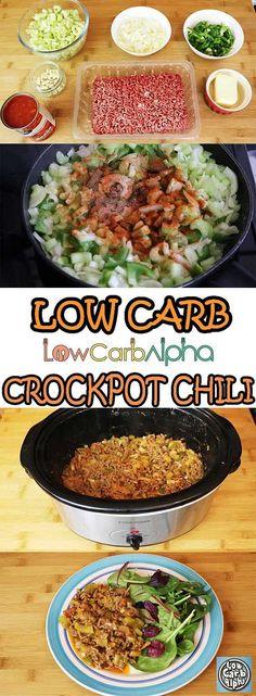 Low Carb Crockpot Chili - Keto Diet Recipes