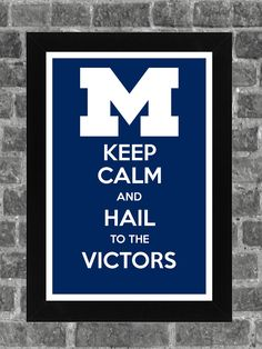 Keep Calm Michigan Wolverines NCAA Print Art 11x17 by KCPrinting, $14.99
