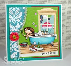Bubbles and Books by whippetgirl - Cards and Paper Crafts at Splitcoaststampers