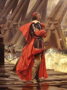 Richelieu, particolare del romantico Assedio di La Rochelle di Henri-Paul Motte (1881)