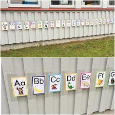 Bokstavskul ute! Att hitta meningsfulla aktiviteter är viktigt ute som inne. #förskola #lpfö #bokstäver#alfabetet#abc… Abc Phonics, Phonics Activities, Alphabet, Thing 1, Outdoor Playground, Learning Environments, Preschool Learning, Toddler Crafts, Pre School