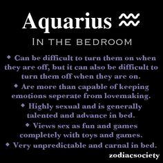 Aquarius In The Bedroom.