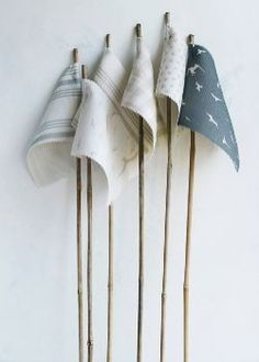 Coastal. Could make flags with canes/ dowelling & swatch fabrics or offcuts for party?