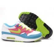 Nike Air Max 1 Heren Trainers Blauw / Wit / Roze