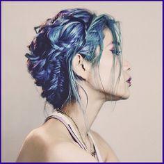 Blue hair braids