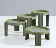 Gianfranco Frattini Nesting Tables for Cassina | From a unique collection of antique and modern nesting tables and stacking tables at https://www.1stdibs.com/furniture/tables/nesting-tables-stacking-tables/