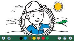 Games and activities on the George the Farmer App. Download now on iTunes.  #farm #farming #kids #kidsapp #kidsfarm #aussiefarm #aussie #australia #illustration #coloring #color #colour