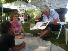 Story time at the Union Farmers Market hosted by Vose Library. Market Stands, Story Time, Farmers Market, Marketing