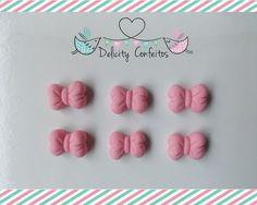 Confeito aplique enfeite Laços açúcar para doces, docinhos, cupcakes, bolos, alfajores, bem nascidos.. Delicity Confeitos Arte em Açúcar e Biscuit