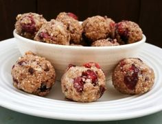 Energy Balls with Coconut, Sunflower Seeds, Dark Chocolate and Dried Cranberries