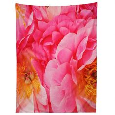 Happee Monkee Hot Pink Peony Tapestry   DENY Designs Home Accessories