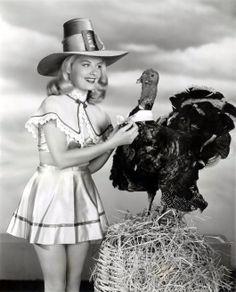 Thanksgiving Pin-Up - Barbara Bates