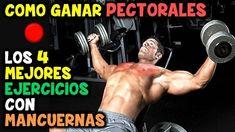 Los 4 Mejores, EJERCICIOS CON MANCUERNAS   Para PECTORALES, Grandes y Mu...