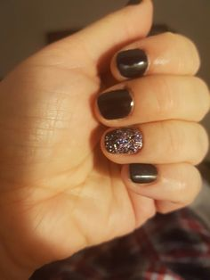 New Year Nails... black.with a fade of Magpie Millie Glitter x