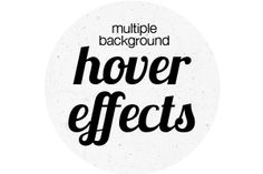 Create Five Awesome Hover Effects Using CSS Multiple Backgrounds