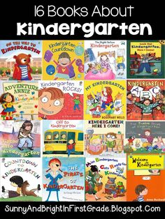 Great blog post that highlights books about kindergarten with quick summaries and links to find the books!
