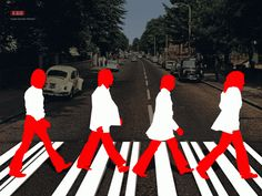 the beatles abbey road cartoons | Pink Rose no Túnel do Tempo: THE BEATLES
