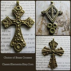 Choice of Big Brass Cross, Coptic Cross, Cross, Brass Cross, Big Brass Cross, Religious Symbol Pendant, Brass, Brass crosses, Big crosses