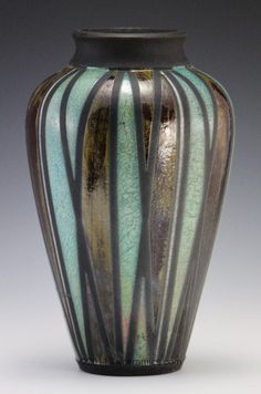 divided light raku vase jlw ceramics