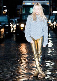 Golden girl: http://www.thecoveteur.com/shea-marie-barbara-bui-pre-fall/
