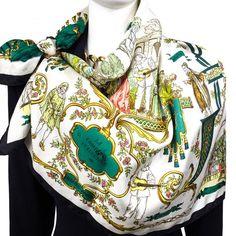 For Sale at Carre de Paris - HERMÈS silk scarf La Comedie Italienne Scarf  by Philippe 803b2633931