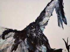 "Saatchi Art Artist Nicole Theresia Spitzwieser; Painting, ""Geier/vulture"" #art Vulture, Bald Eagle, Saatchi Art, Original Paintings, Artist, Artists"