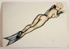 L008722 Olivia DeBerardinis 1992 Card #83 - Silk Siren 1991 / Pin-Up Art