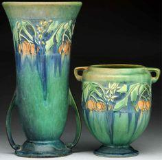 Roseville Baneda vases