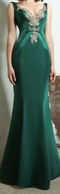 forest green gown