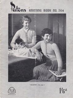 Paton's & Baldwins  Knitting Pattern No 364  by jennylouvintage