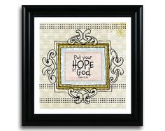 Psalm 42:5 Art Print 8x8  Put your hope in God by CreativitybyKatie