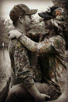 #couples #camo #cute #good engagement picture