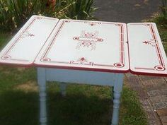 Enamel Top Table Red Kitchenkitchen Ideascountry Kitchenkitchen
