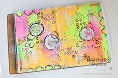 Today I'm sharing a couple of pages from my art journal. I grabbed some bright, neon paints, my favorite Montana paint marker, and...