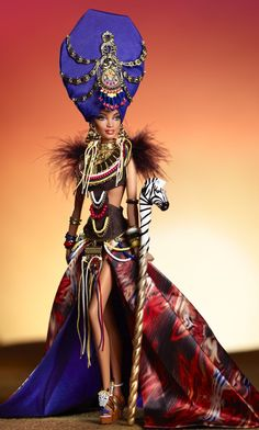 Tribal Beauty Barbie Doll, Gold Label, 2013.....Stunning !