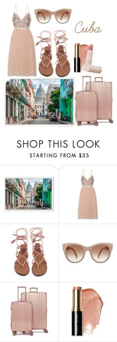 """""""Untitled #907"""" by helenaki65 ❤ liked on Polyvore featuring Needle & Thread, CalPak, Bobbi Brown Cosmetics and Lipstick Queen"""