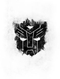 Autobots Art Print, Black