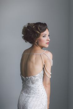 Hera Shoulder Chain. Wedding Necklace Shoulder by OffwhiteStudio
