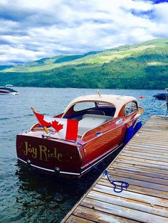 Joy Ride a Chris Craft Utility Sedan at Sicamous Antique and Classic Boat Show. Classic Wooden Boats, Classic Boat, Wooden Speed Boats, Wood Boats, Joy Ride, Chris Craft, Power Boats, Water Crafts, Car Stuff