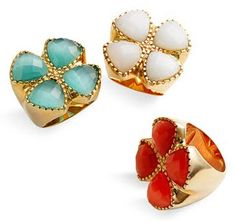 NORDTRUM COCKTAIL RINGS | Ariella Collection Clover Cat's Eye Ring, $78, Nordstrom.com.