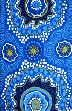 Rock Holes, a Tjukula wall hanging by Dianne Robinson from Iwantja Arts, Australian aboriginal