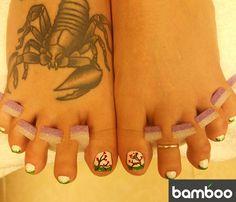 Nail art by Bamboo Nails and Spa Nail Spa, Print Tattoos, Bamboo, Art, Art Background, Kunst, Performing Arts, Art Education Resources, Artworks