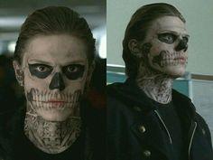 American Horror Story coven character Tate Langdon skull makeup