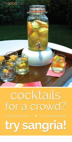 Get ready for outdoor summer parties with these steps to make decorative ice and sangria!