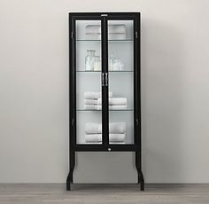 Attrayant Pharmacy Bath Tall Cabinet Black    Pricey, Pricey, But Gorgeous
