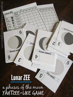 Free Printable Phases of the Moon Game