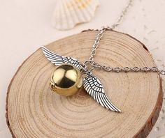 NASZYJNIK HARRY POTTER Golden Snitch Wings EdiBazzar