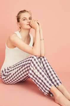 Buy Berry/Ecru Woven Check Bottoms from the Next UK online shop